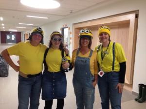 Woodpecker class... dressed up as Minions! (Mrs. K, Madame Senuik, Mrs. Scheel and Mrs. Bennett